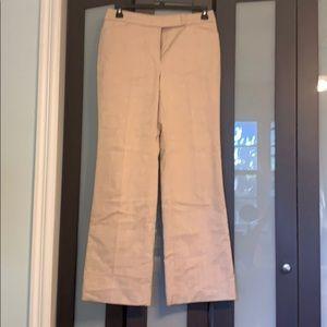 White House Black Market Beige lined pants